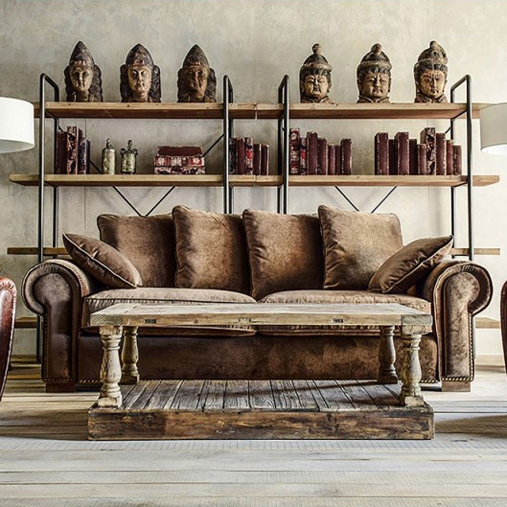 Estanteria estilo industrial 160x191cm hierro y madera - Estilo industrial ...