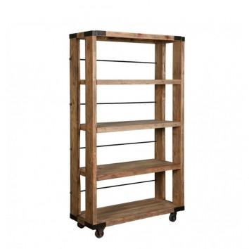 Estanteria estilo industrial 115x206cm madera olmo