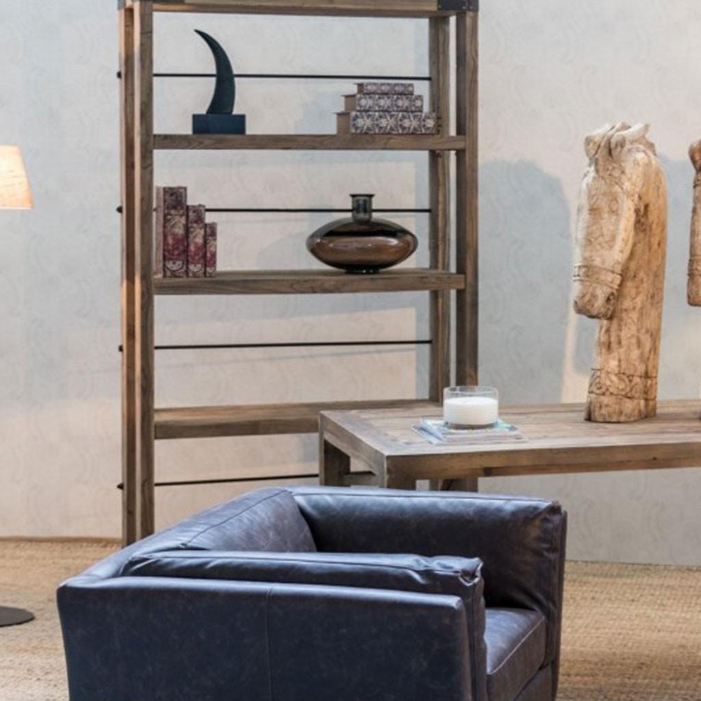 Estanteria estilo industrial 115x206cm madera olmo - Erizho