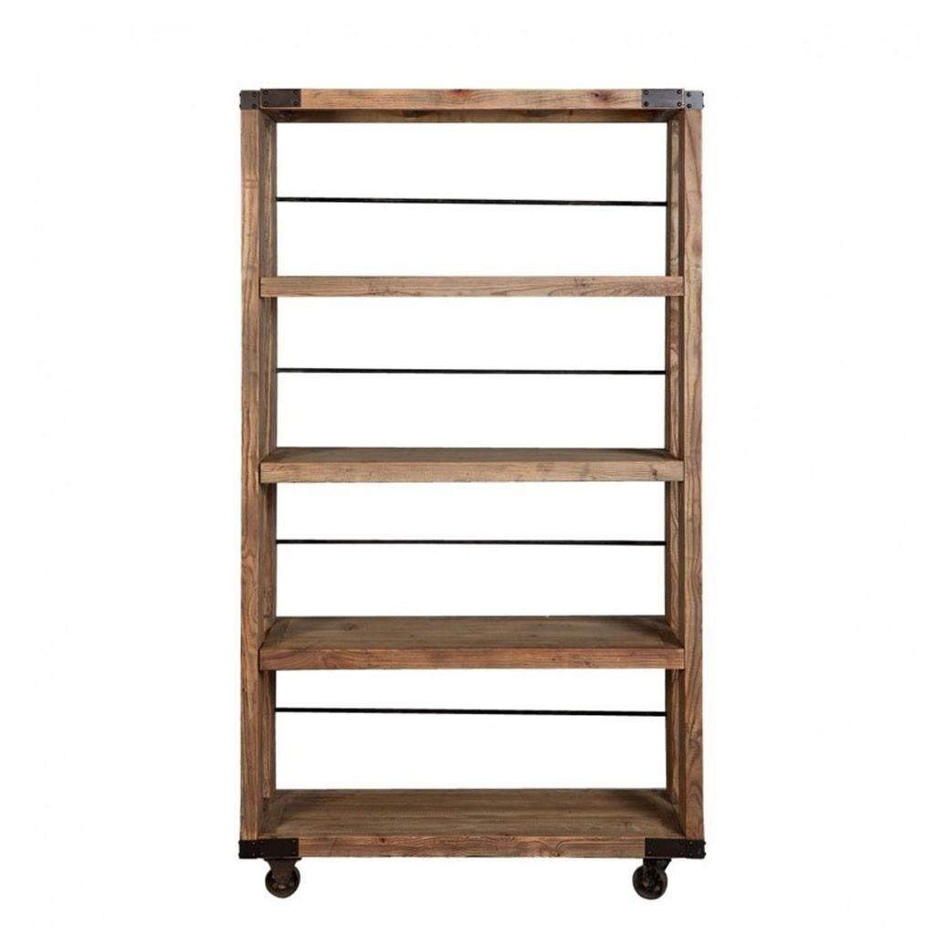 Estanteria estilo industrial 115x206cm madera olmo erizho for Libreria estilo industrial