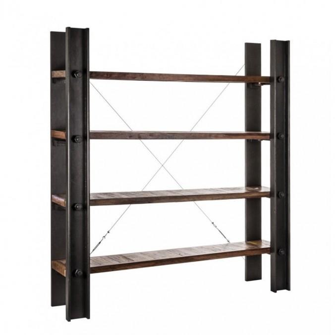 Estanter a estilo industrial 180x200cm madera mango erizho for Estanteria estilo industrial