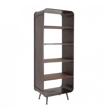 Librería de estilo vintage 70x190cm madera y hierro