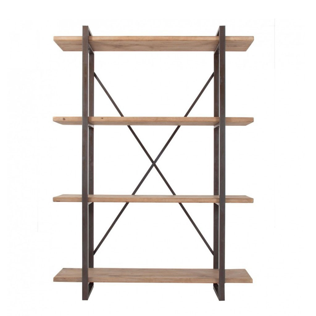 Estanter a estilo industrial 140x190cm abeto y hierro erizho for Libreria estilo industrial