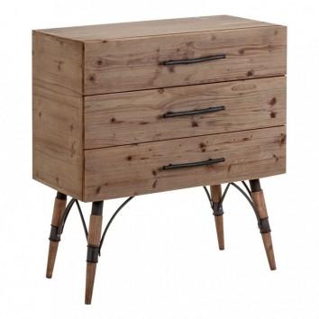 Mesilla estilo vintage 80cm madera y hierro