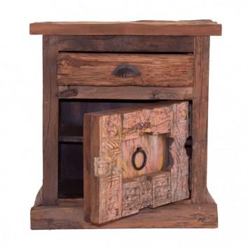 Mesilla de noche 60cm madera antigua