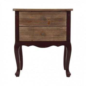 Mesita de noche estilo vintage 60cm madera abeto
