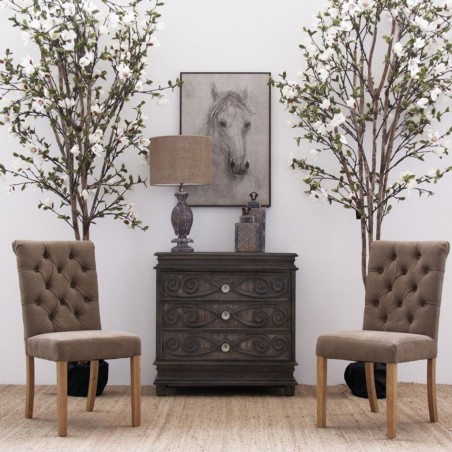 C moda 92x92cm estilo r stico provenzal madera mango erizho for Estilo rustico provenzal