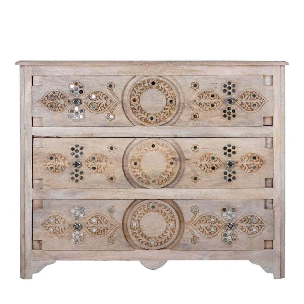 C moda 105x85cm estilo oriental madera mango decap erizho - Comodas y sinfonieres ...