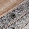 Cómoda 80cm metal repujado y madera