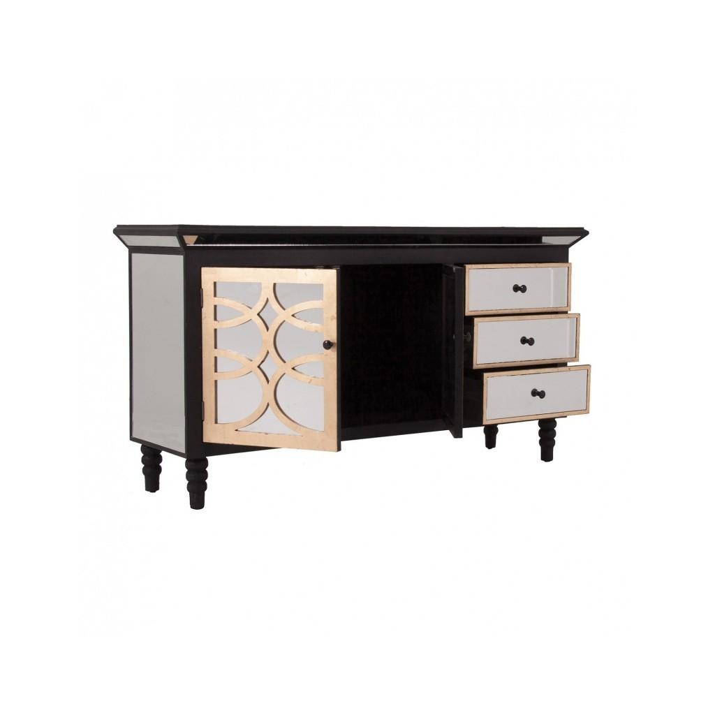 buffet 150cm estilo art d co en espejo erizho. Black Bedroom Furniture Sets. Home Design Ideas