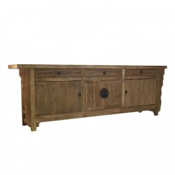 Buffet 250cm estilo oriental madera de pino