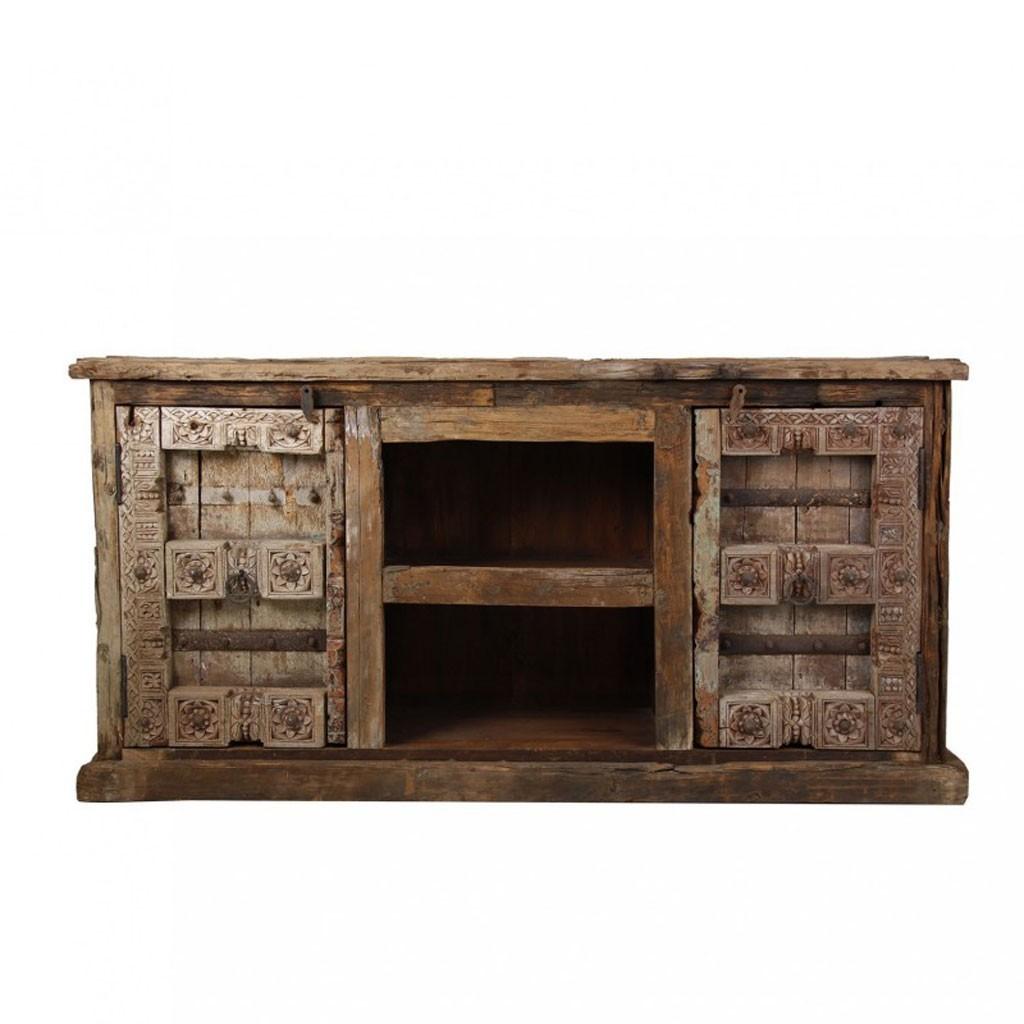 Buffet 195cm madera antigua estilo tnico erizho for Muebles estilo etnico