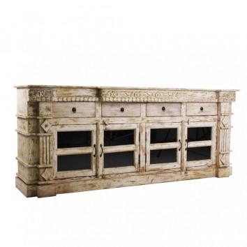 Buffet 192cm de estilo clásico oriental madera mango