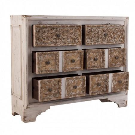 Cajonera 124cm estilo oriental madera de abeto erizho - Madera de abeto ...
