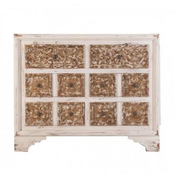 Cajonera 124cm estilo oriental madera de abeto