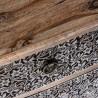 Cómoda 90x80cm metal repujado y madera
