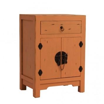 Mesita de noche 42cm estilo oriental madera abeto