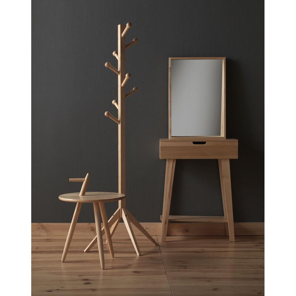 Espejo estilo n rdico 45x65cm madera abedul erizho for Espejo pie madera