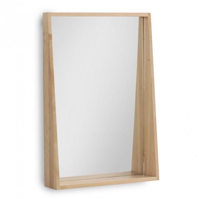 Espejo estilo n rdico 45x65cm madera abedul erizho for Espejos redondos de madera