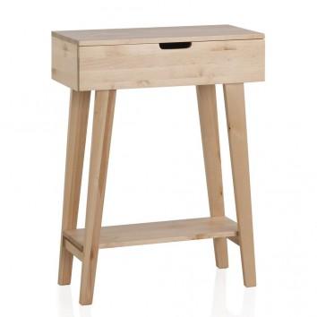 Consola estilo nórdico 60cm madera de abedul natural