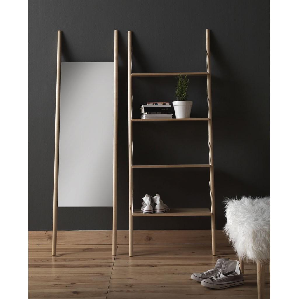 Espejo de pie 46x170cm madera abedul erizho for Espejos de pie de madera