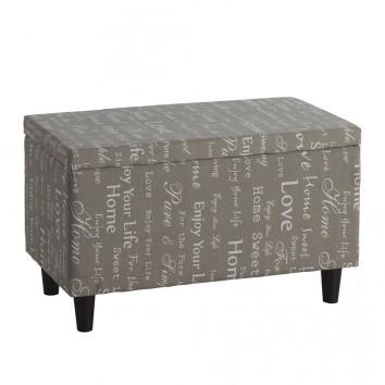 Cajón 75x41cm de estilo vintage tapizado en tela