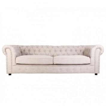 Sofá Chester 3 plazas 230cm tapizado en lino y algodón