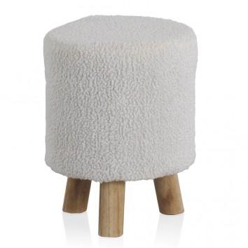 Taburete estilo nórdico 30x38cm estructura pino