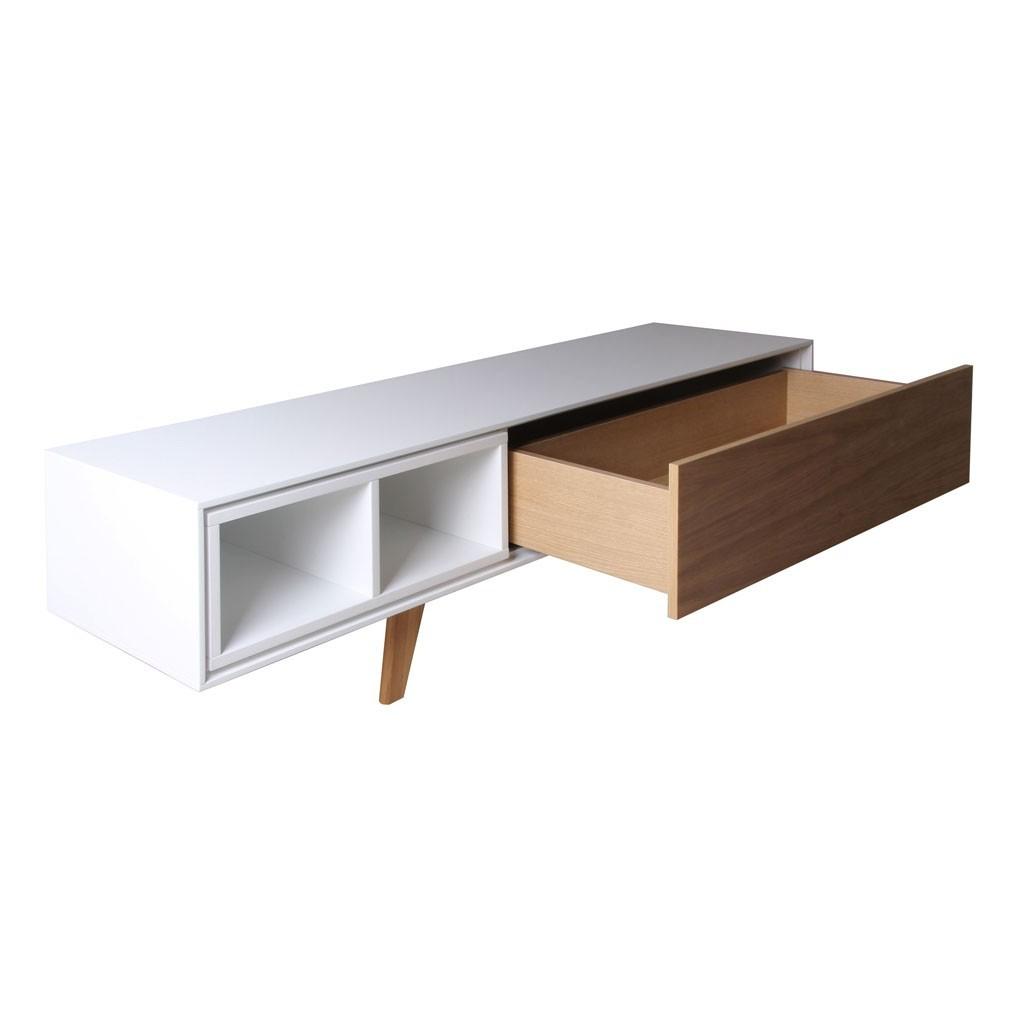 Mueble TV con cajón 150cm chapa de roble - Erizho