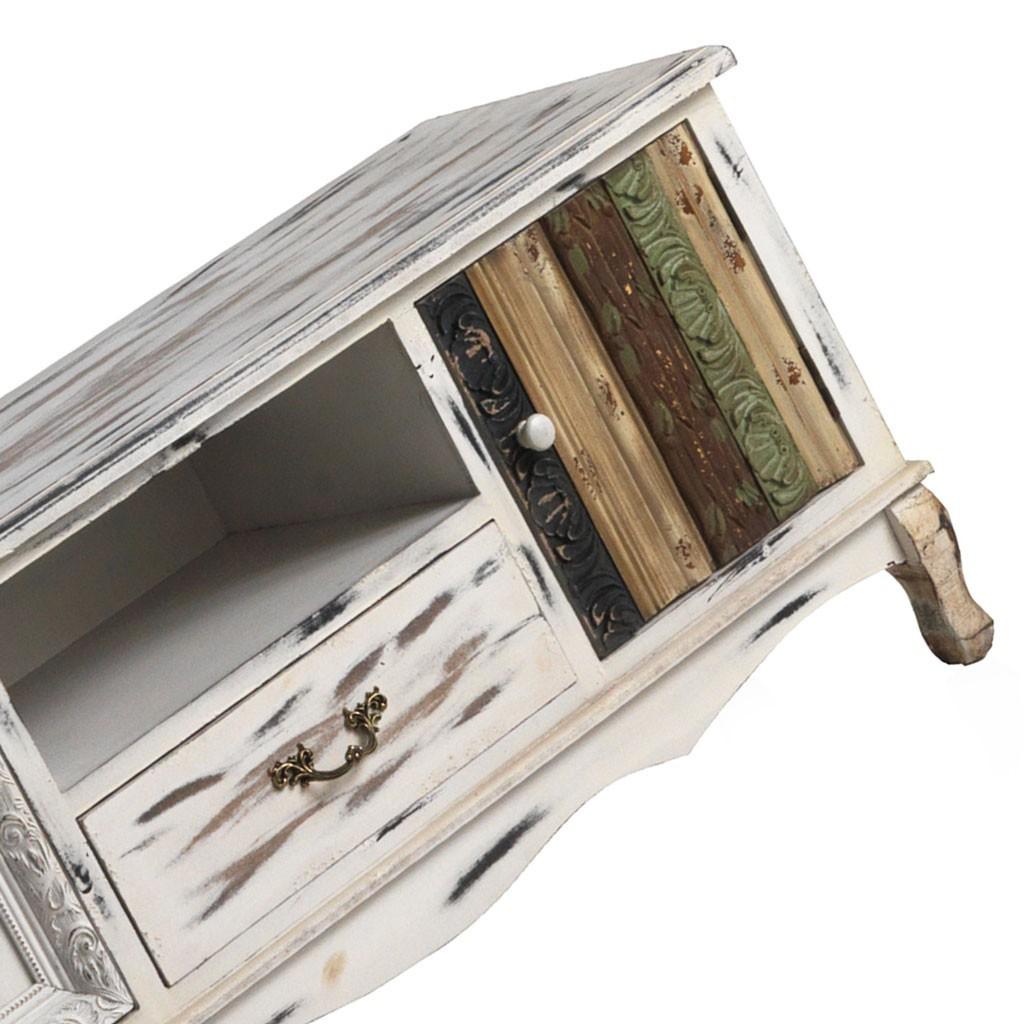 Mueble Tv Estilo Vintage 120x40x54h Abeto Y Mdf Erizho # Muebles Pago Sequra