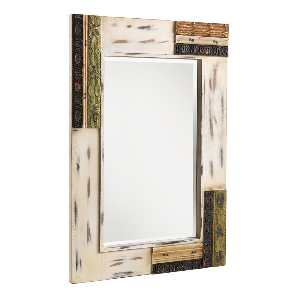 espejo vintage 80x120cm madera de abeto y mdf erizho On espejos ovalados de madera