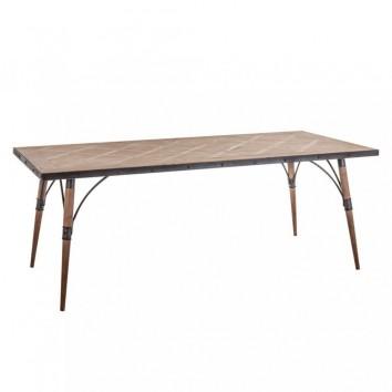 Mesa comedor 200x90cm hierro y madera