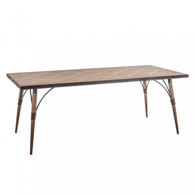 Mesa comedor 200x90cm hierro y madera - Erizho