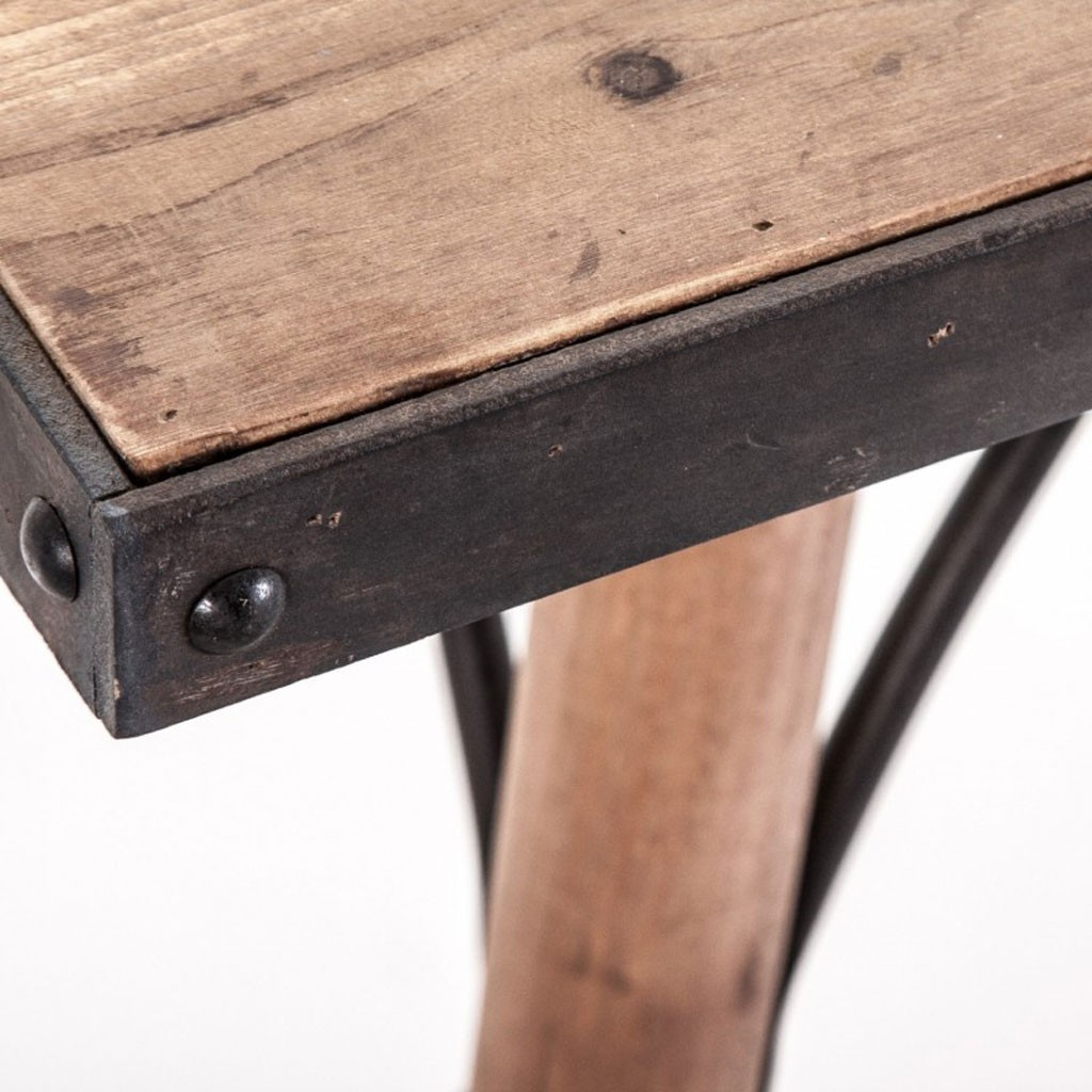 Mesa comedor 200x90cm hierro y madera erizho - Mesas de madera hechas a mano ...