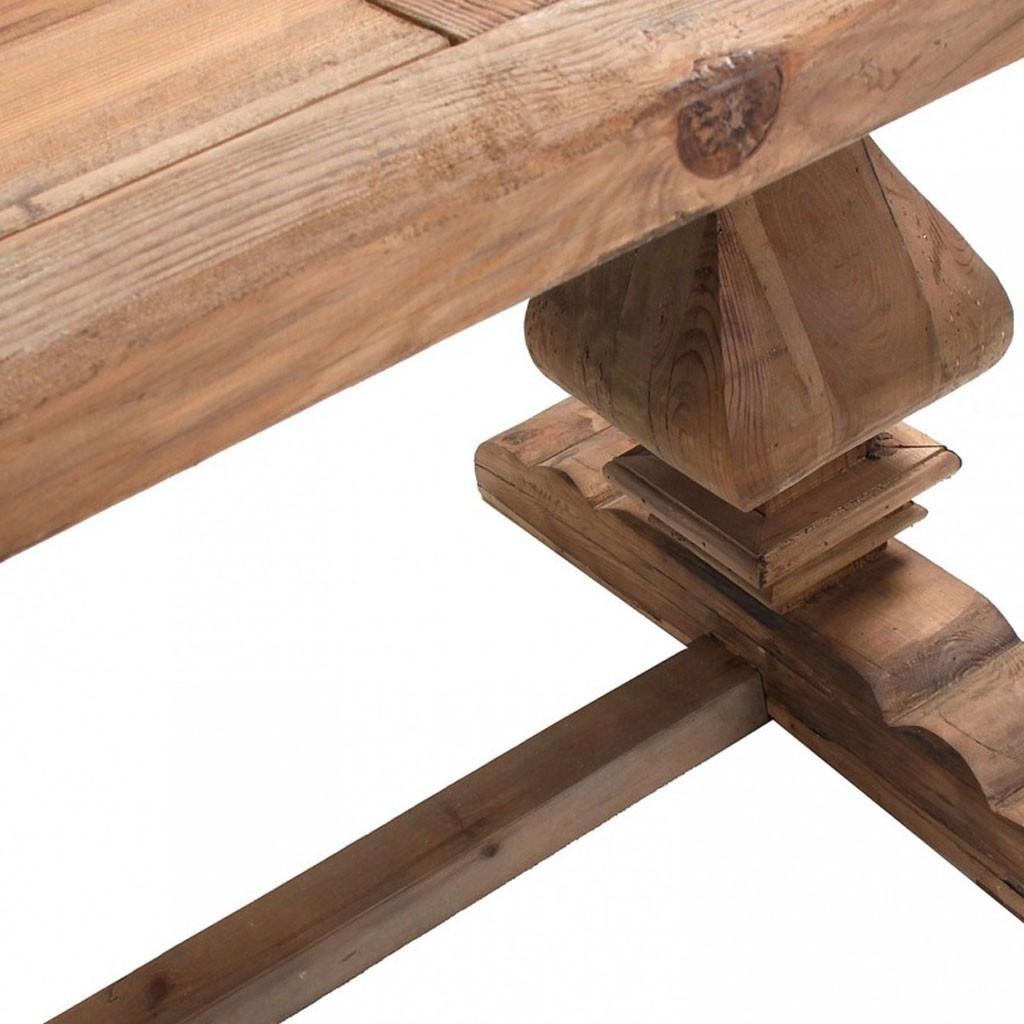 Mesa comedor rústica 200x100cm pino reciclado - Erizho