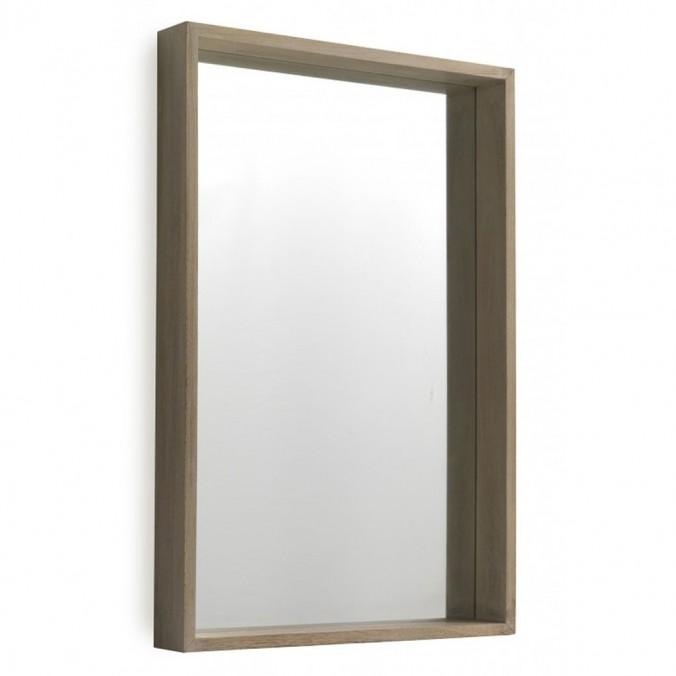 Espejo pared estilo nórdico 60x90cm en paulownia