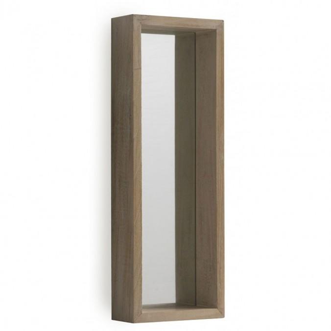 Espejo pared estilo nórdico 22x62cm en paulownia