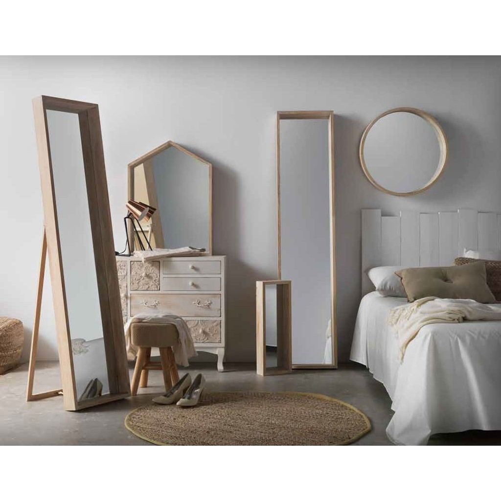 Espejo pared estilo n rdico 22x62cm en paulownia erizho - Espejo nordico ...