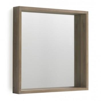 Espejo pared estilo nórdico 60x60cm en paulownia