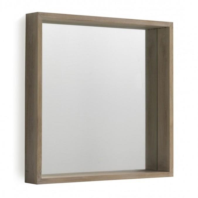 Espejo pared estilo n rdico 60x60cm en paulownia erizho - Espejo nordico ...