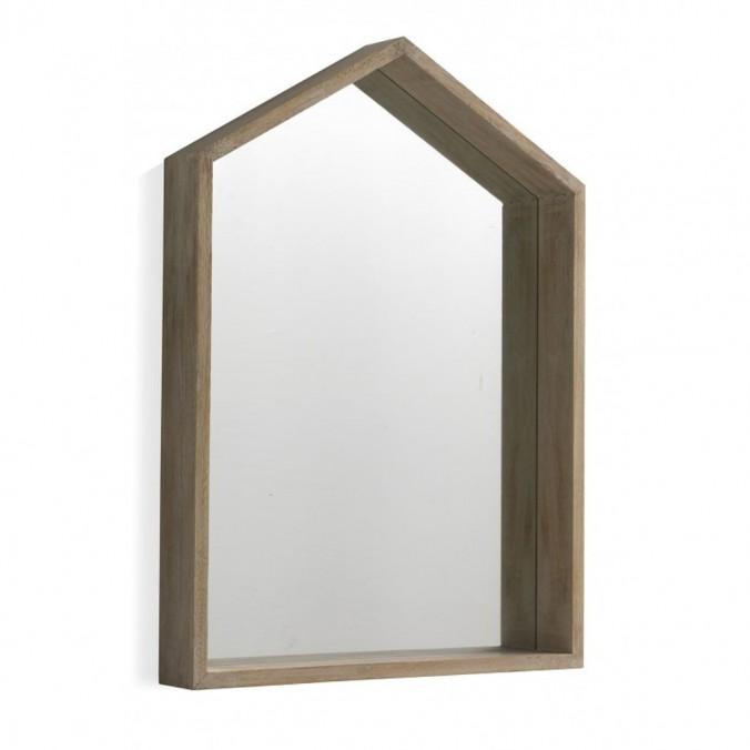 Espejo pared estilo nórdico 60x82cm en paulownia