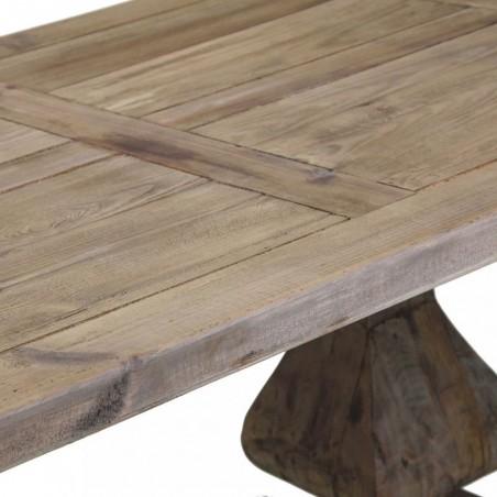 Mesa comedor rústica 250x100cm pino reciclado - Erizho