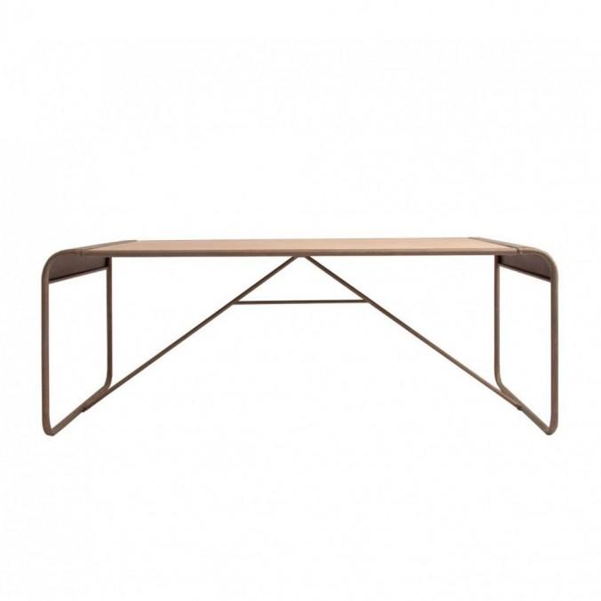 Mesa comedor industrial 200x90cm hierro - Erizho