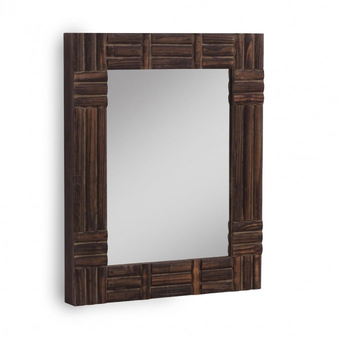 Espejo de pared colonial 57x70cm pino