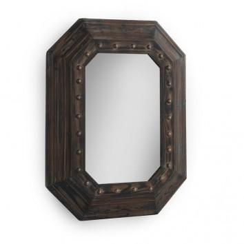 Espejo vintage octogonal 70x90cm abeto