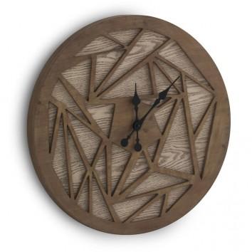 Reloj vintage geométrico 60cm madera