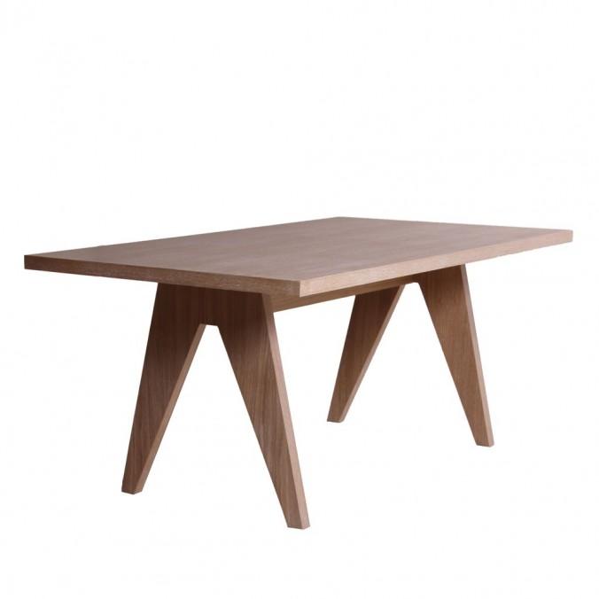 Mesa comedor de roble estilo nórdico - 4 tamaños - Erizho