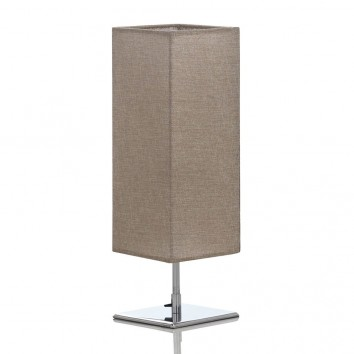 Lámpara de mesa 14x46cm con pantalla cuadrada