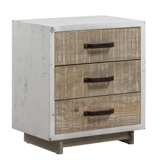 Mesita estilo vintage 50x57cm en madera decapé