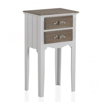 Mesita estilo romántico 38x68cm gris